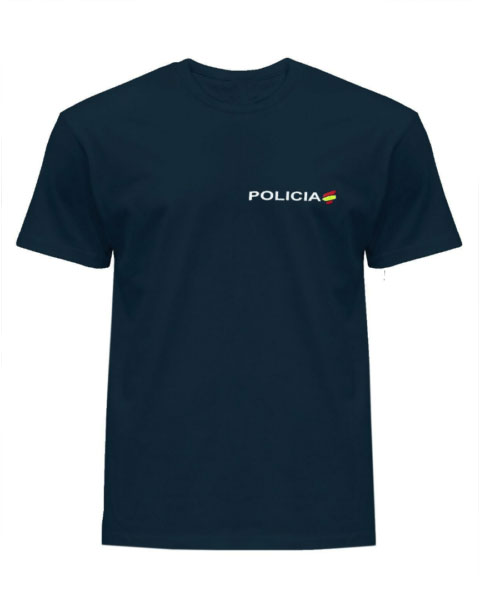 Camiseta de Policía con bandera de España